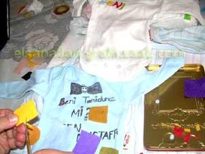 Ayşe Selcen Atılgan Kan el sanatları geri dönüşüm bebek tişörtleri